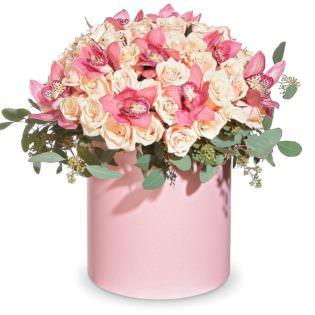 Цветы в коробке «Дуэт»