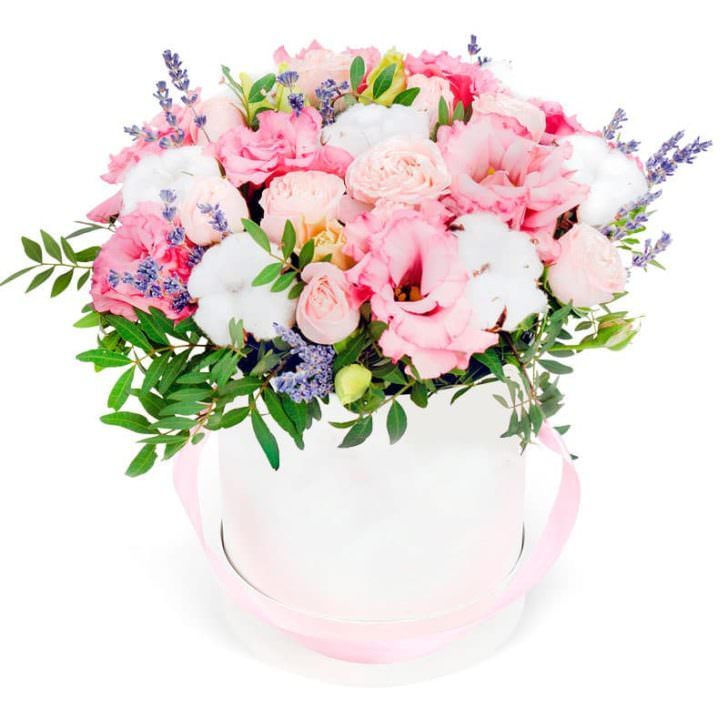 """Цветы в коробке """"Интрига"""""""
