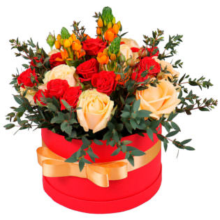 Цветы в коробке «Стрела амура»