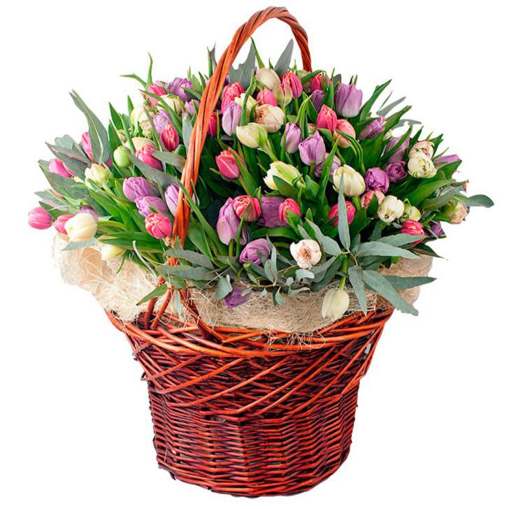 """Цветы в корзинке """"Королева"""""""