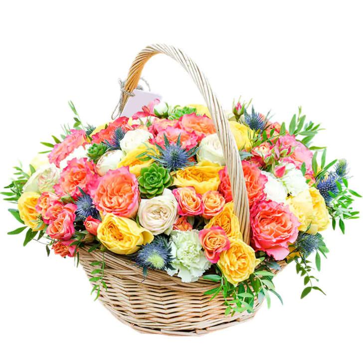 """Цветы в корзинке """"Музыка цветов"""""""
